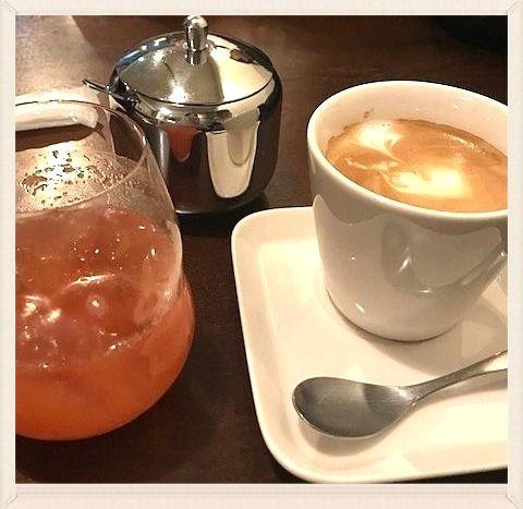 八幡山駅 カフェ&ワイン「ジェンティーレ」のコーヒーです