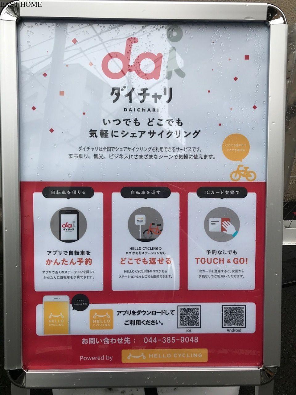 八幡山駅にシェアサイクルの登場です!
