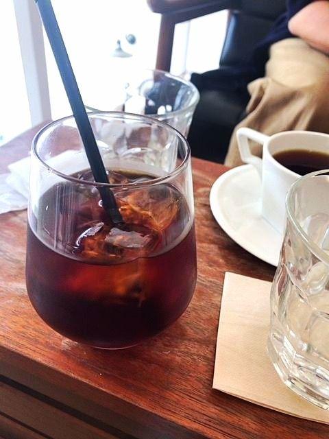 熊本「上乃裏」にある「アンドコーヒー」の水出しアイスコーヒーの写真です